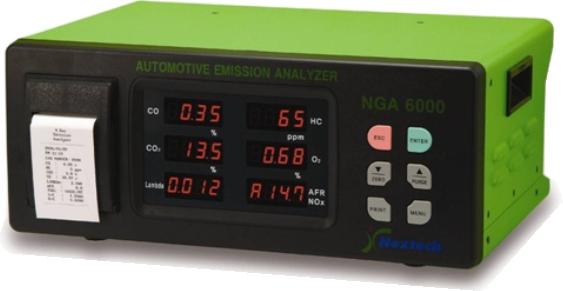 analizador de gases automotriz QROTECH QGA6000