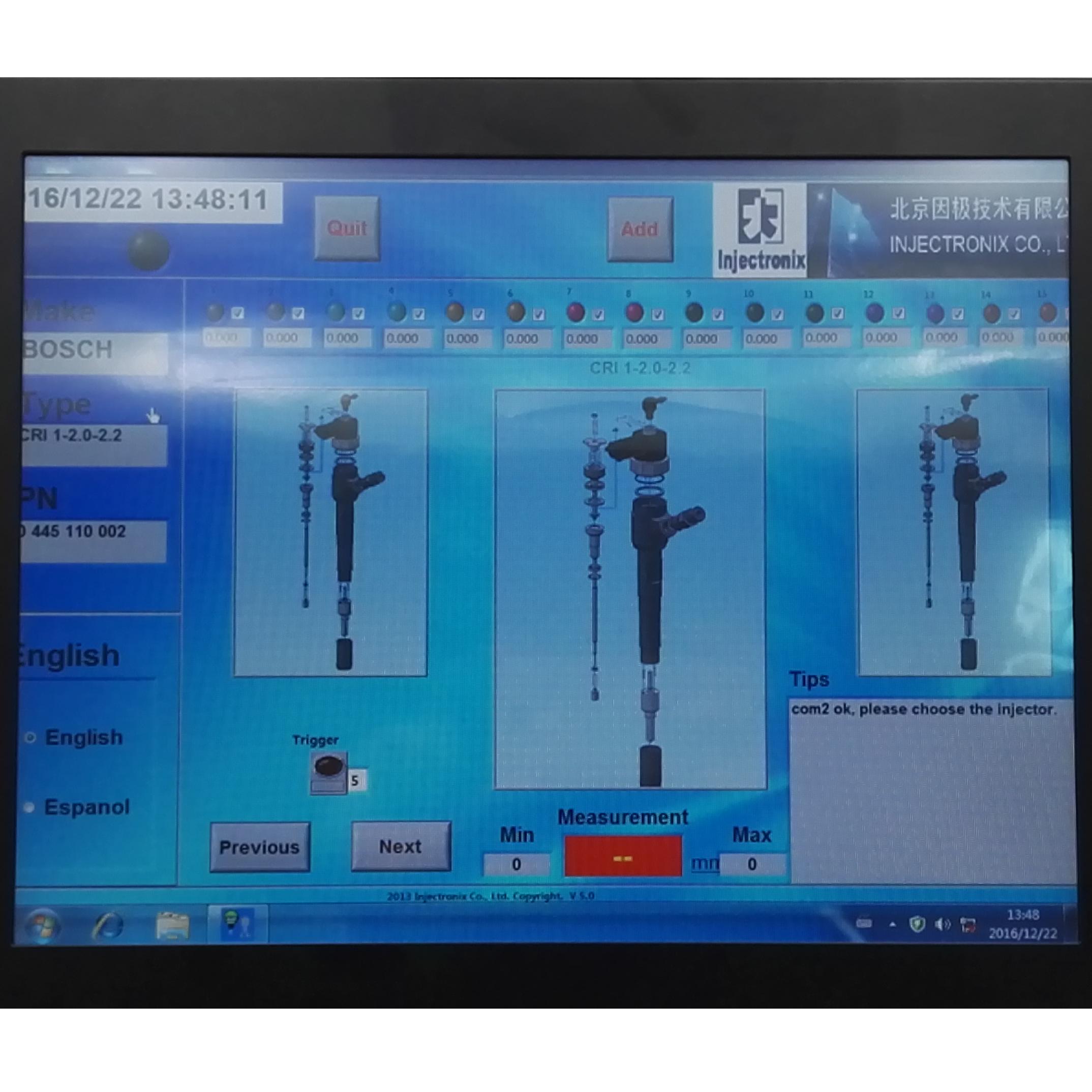 Equipo para calibracion de inyectores diesel CRM-200-2